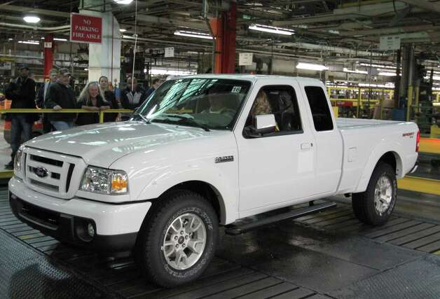 The last Ranger pickup truck built in North America rolls off the assembly line Dec. 16 at Ford's assembly plant in St. Paul, Minn. More than 7 million Rangers have been built since production began in 1982 in Louisville, Ky. Photo: Ford Motor Co., Wieck / Ford