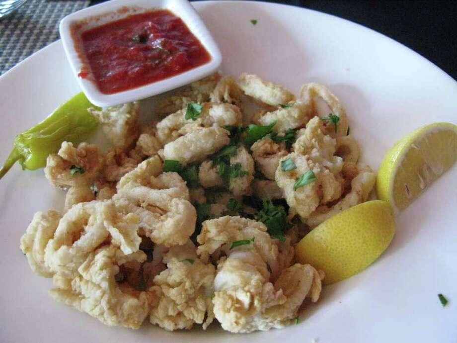 The calamari appetizer at Toscana. Photo: Staff, Jennifer McInnis