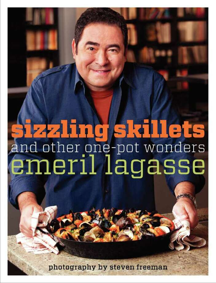 Emeril Lagasse?s new book, Sizzling Skillets: And Other One-Pot Wonders (HarperCollins; $24.99), is an excellent gift choice. Photo: Skilletcover