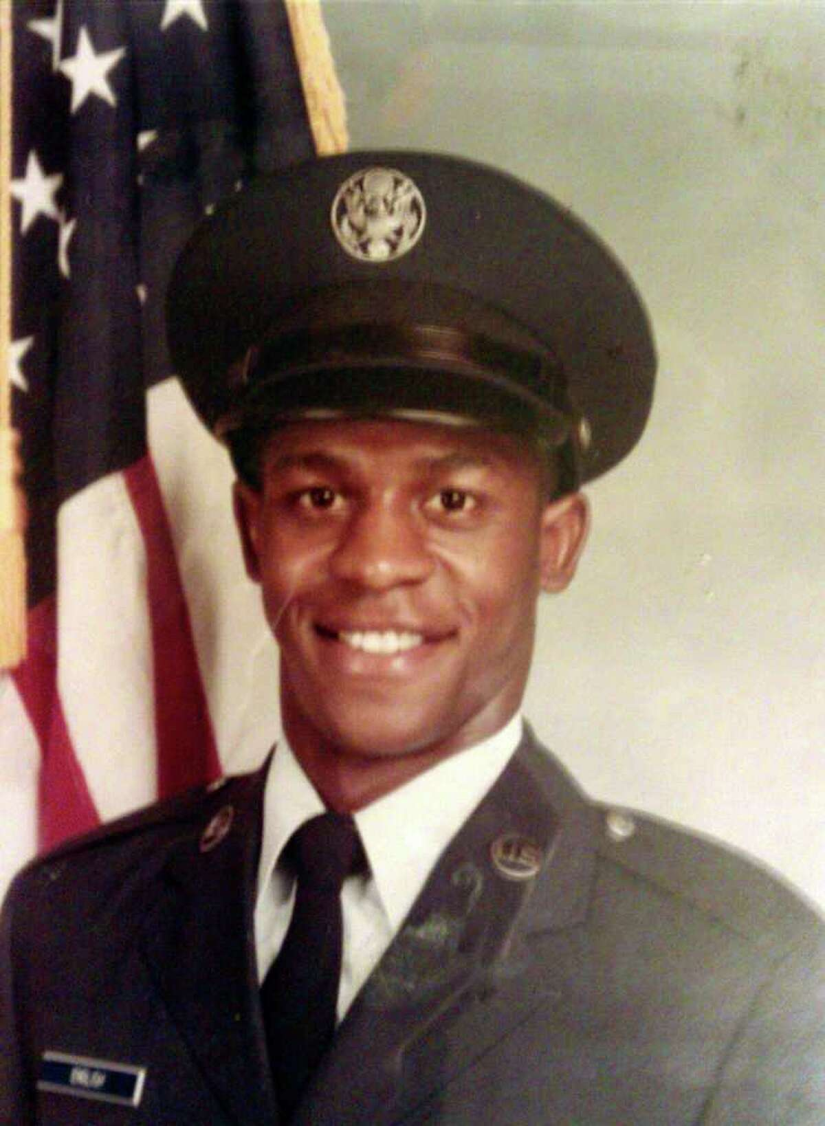 Douglas Ray English, 47, was shot and killed Tuesday night in a drive-by shooting in the 900 block of East Crockett. His family said he was 18 when this photo was taken as he entered the U.S. Air Force in the early 1980s.