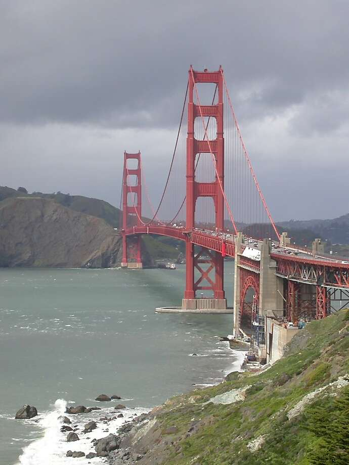 Golden Gate Bridge as seen from the Coast Trail, a short walk west from the toll plaza area. Photo: Tom Stienstra Photo: Tom Stienstra