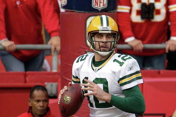 CHARLIE RIEDEL : CHRONICLE LEADER OF THE PACK:  This season, Aaron Rodgers has completed 68.1 percent of his passes for 4,360 yards.