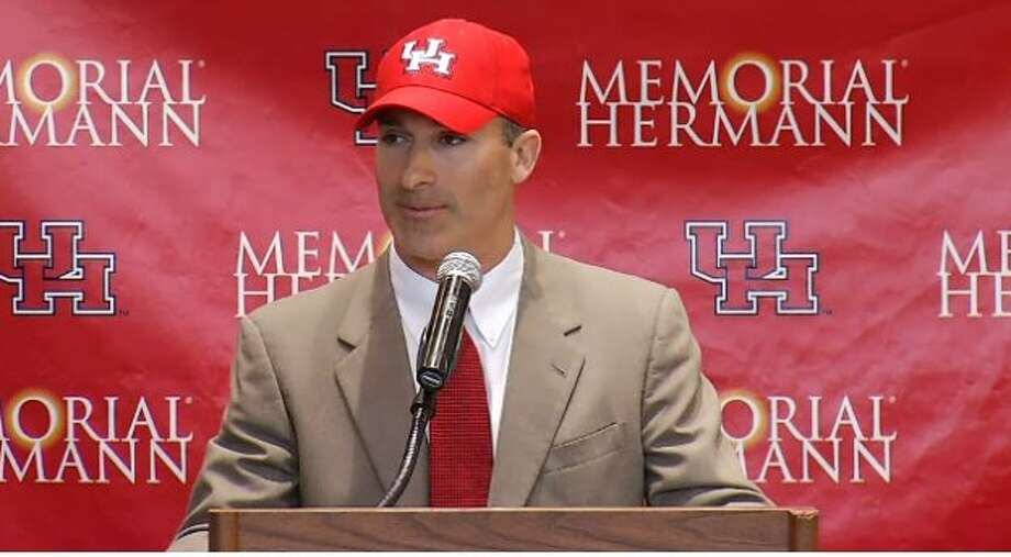 UH football coach Tony Levine could validate the school's decision to promote from within to find Kevin Sumlin's replacement. Photo: Screen Shot