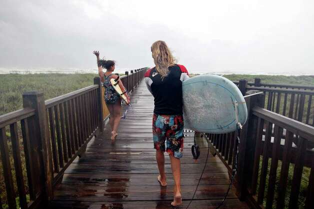 Guests to South Padre Island can take advantage of the small, but surfable waves. Other activities include helicopter tours, birding, horseback riding and eco-tours. Island promoters are hoping to lure more families to the area during spring break. Photo: EDWARD A. ORNELAS, SAEN Staff / San Antonio Express-News