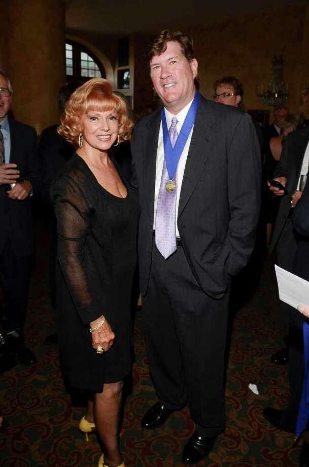Dot Cunningham with honoree Michael Mizwa 2011 Angel Awards Photo: Fulton Davenport