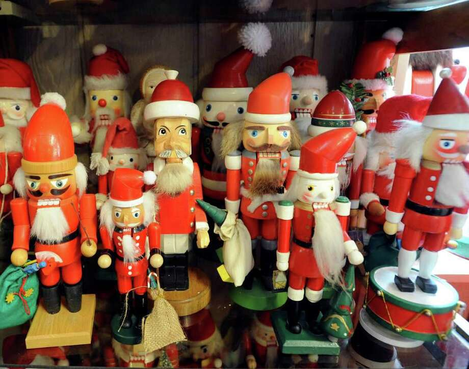 """Santa Claus is a popular subject in the Nutcracker Museum. Why collect nutcrackers? Kenneth Pape says, """"We're in the nut business. It was something that related to my business."""" Photo: BILLY CALZADA, SAN ANTONIO EXPRESS-NEWS / gcalzada@express-news.net"""