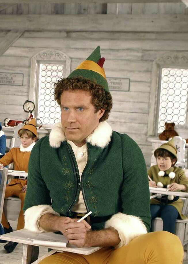 "** FILE ** Will Ferrell as Buddy the Elf appears in this scene from New Line Cinemas' ""Elf,"" in this undated publicity photo.  (AP Photo/New Line Productions, Alan Markfield)  HOUCHRON CAPTION (12/09/2003):  WILL FERRELL, as Buddy in ""Elf.""  WHERE HAVE ALL THE Elves GONE? / Looks like most all of them are heading to the movies.  HOUCHRON CAPTION (12/18/2003):  Will Ferrell plays Buddy in Elf. Photo: ALAN MARKFIELD / NEW LINE CIMEMA"