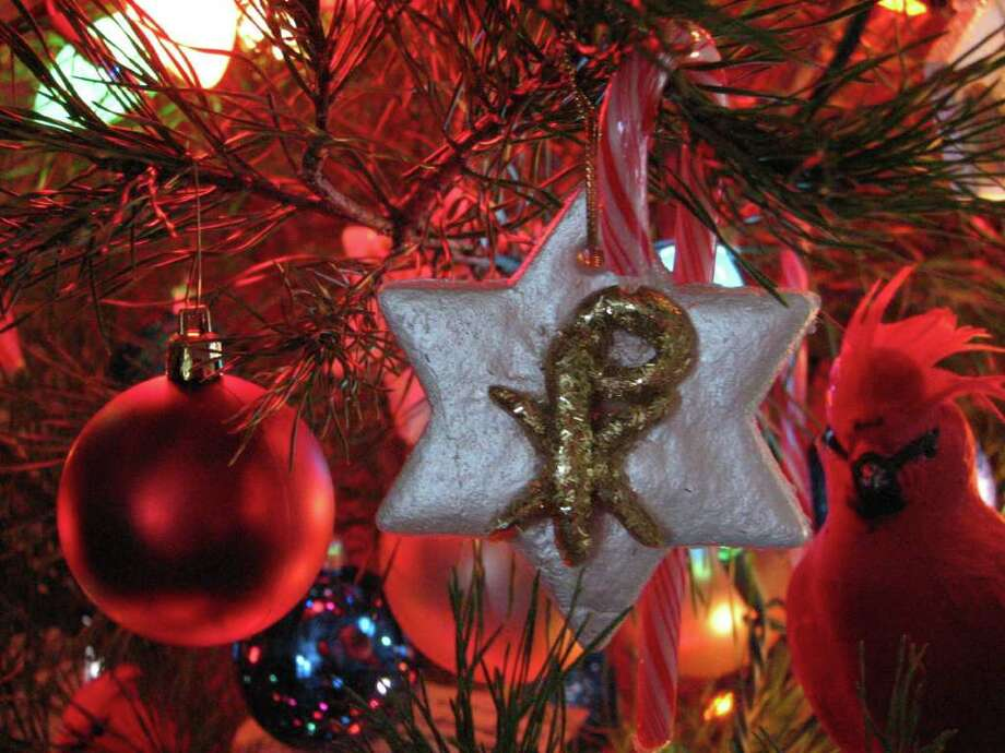 """Christmons are """"Christ monograms"""" that are a part of vintage Christmas decorations. Photo: Courtesy Photo"""