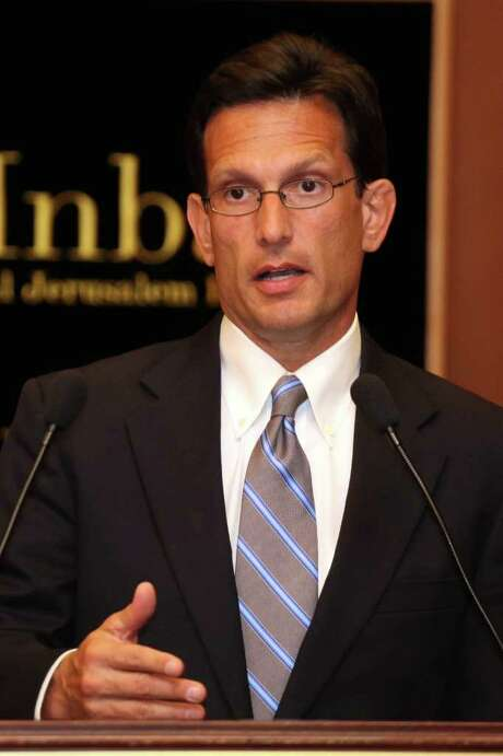 US Republican House majority leader Eric Cantor speaks during a press confrence in Jerusalem during an official visit to Israel on August 23, 2011. AFP PHOTO/GALI TIBBON (Photo credit should read GALI TIBBON/AFP/Getty Images) Photo: GALI TIBBON / AFP