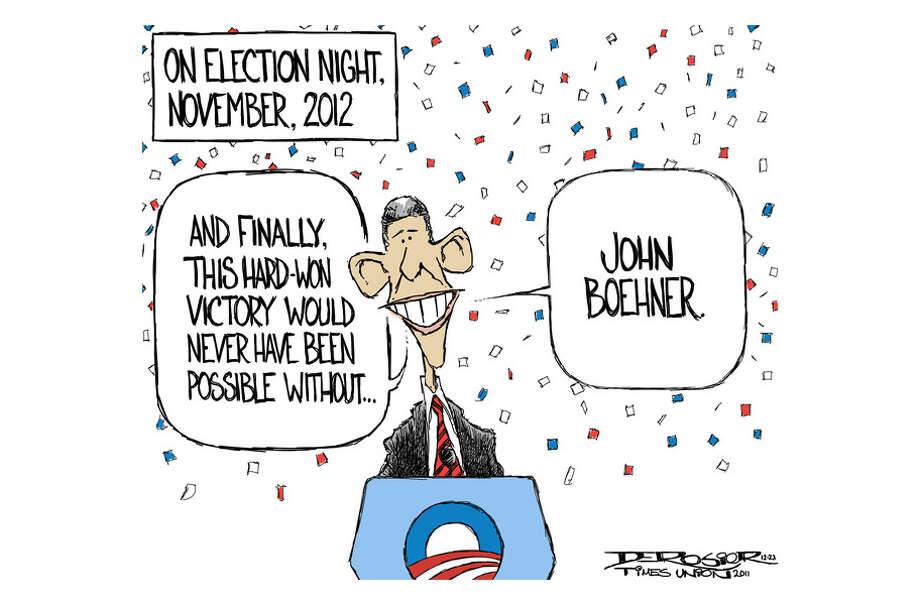 John Boehner and House Republicans' intransigence will help reelect Barack Obama. Photo: John De Rosier