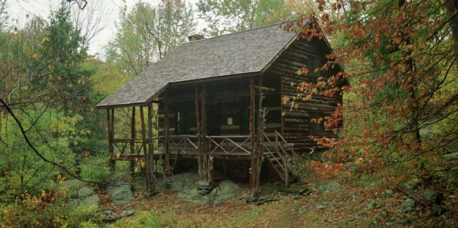 Slabside, the cabin retreat of author John Burroughs, is set on a private tract of land that has since become the 170-acre John Burroughs Sanctuary.