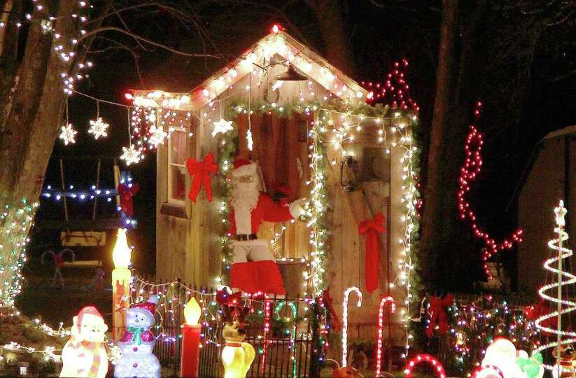 The Hester house on Mason Lewis Road near Rectorville, Ky. displays many Christmas lights and scenes