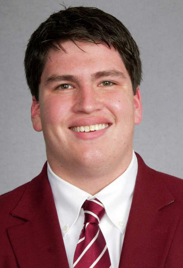 In this handout released by Texas A&M University, football player Joseph Villavisencio is shown in State College, Texas.  Villavisencio, a senior offensive lineman, has been killed in a car accident, according to the university Thursday, Dec. 22, 2011. Witness reports say that Villavisencio swerved to avoid a buzzard and veered head-on into the path of an 18-wheeler near the town of Normangee, Texas, about 40 miles from College Station. (AP Photo/Texas A&M) / Texas A&M University