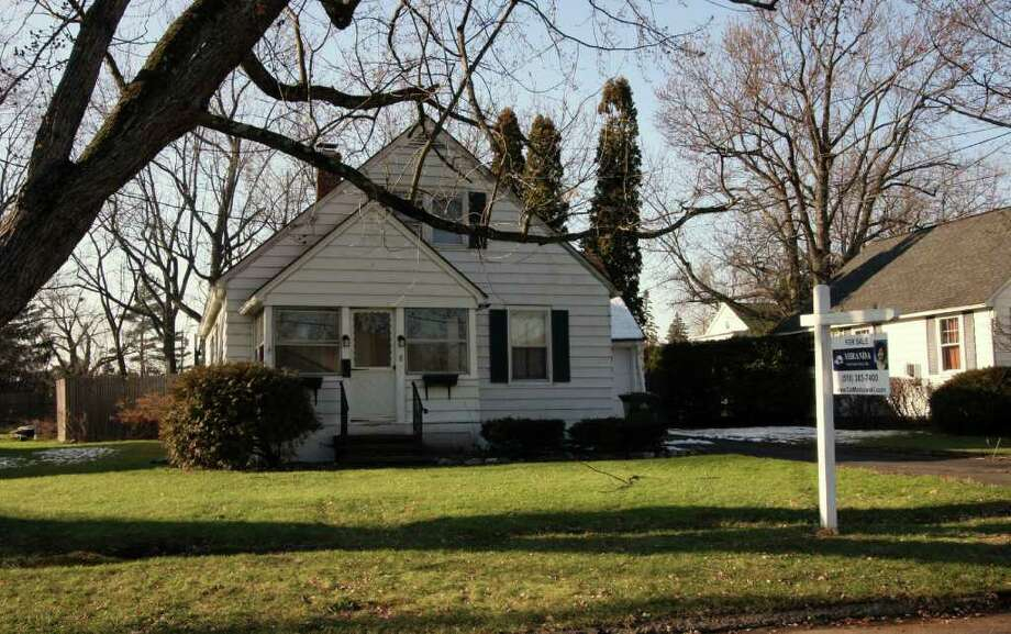 This two-bedroom house at 8 Rose Court in Cohoes is on the market for $149,900. (Michael Lisi photo)