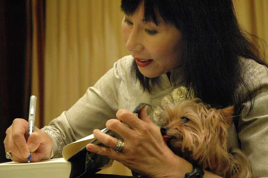 Amy Tan, seen here in 2005 during the Houston Chronicle's Book and Author Dinner, released her latest novel, Rules for Virgins, on www.byliner.com, a digital publisher. Photo: Meenu Bhardwaj / Freelance