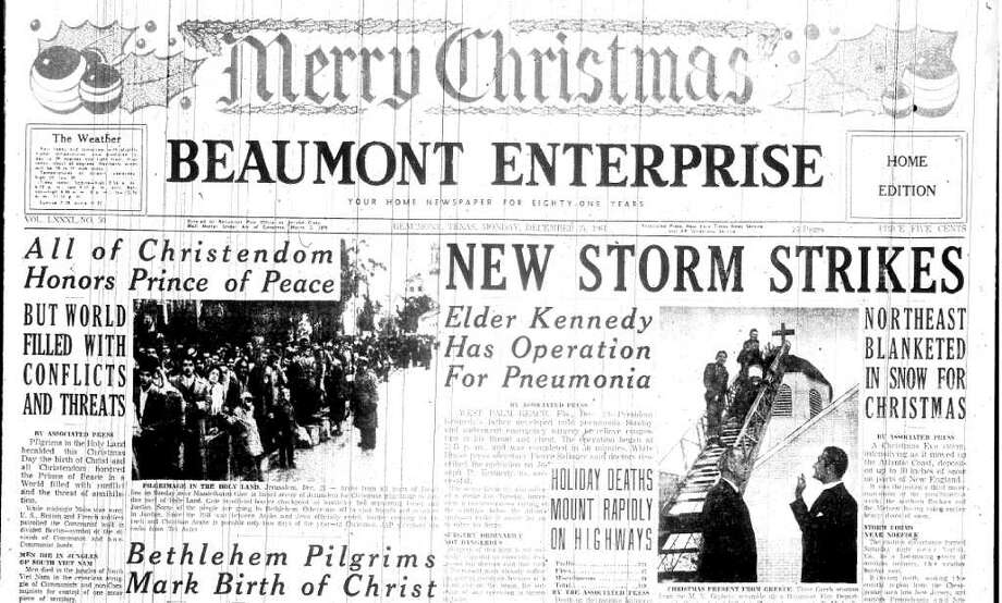 Merry Christmas from downtown Beaumont 50 years ago.  Compiled by Terry Maillet-Jones Photo: File Photos