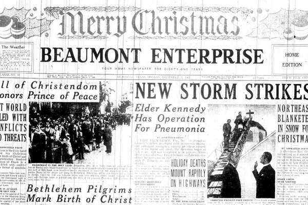 Merry Christmas from downtown Beaumont 50 years ago.  Compiled by Terry Maillet-Jones