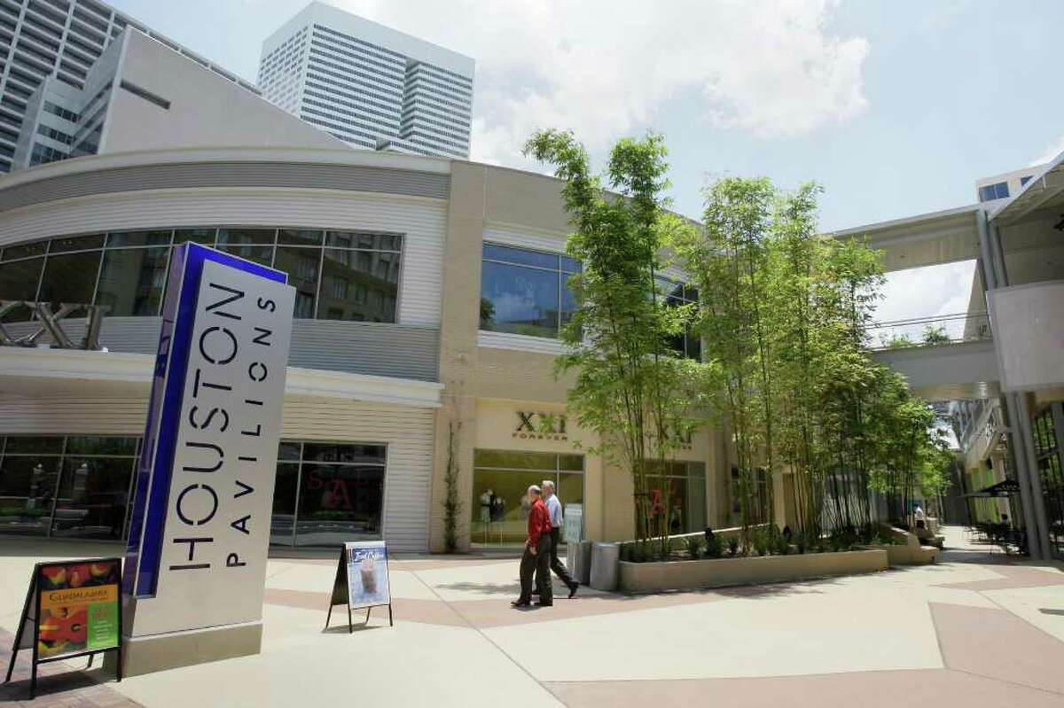 Houston Pavilions is a development with a variety of stores and restaurants.