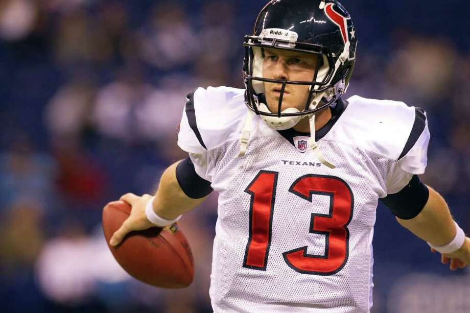 """Smiley N. Pool: Chronicle UNLUCKY NUMBER?: Despite losing his last two starts, Texans quarterback T.J. Yates (13) continues to receive support from above. """"We've got to trust him and move forward,"""" coach Gary Kubiak said. Photo: Smiley N. Pool / © 2011  Houston Chronicle"""