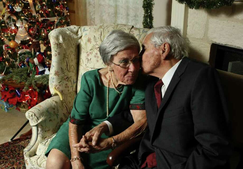 "Dr. Pedro ""Pete"" and Nori Minel  were married on Christmas Day of 1941. They're celebrating their 70th wedding anniversary on Christmas. They were set to marry in June 1942 but moved the date up because he was drafted after Pearl Harbor. Photo: HELEN L. MONTOYA, SAN ANTONIO EXPRESS-NEWS / hmontoya@express-news.net"