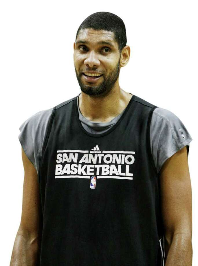 San Antonio Spurs' Tim Duncan on the court during an NBA basketball scrimmage, Monday, Dec. 19, 2011, in San Antonio. Photo: Darren Abate, Darren Abate/Special To The Expr