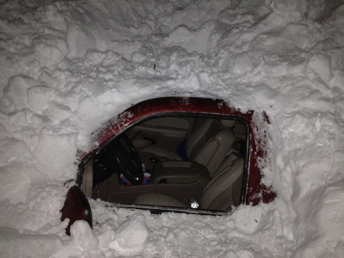 NEW MEXICO SEARCH AND RESCUE 'ENTOMBED IN ICE': The Higgins family spent a couple of uncomfortable days inside their GMC Yukon after it was completely encased in snow near Clayton, N.M.