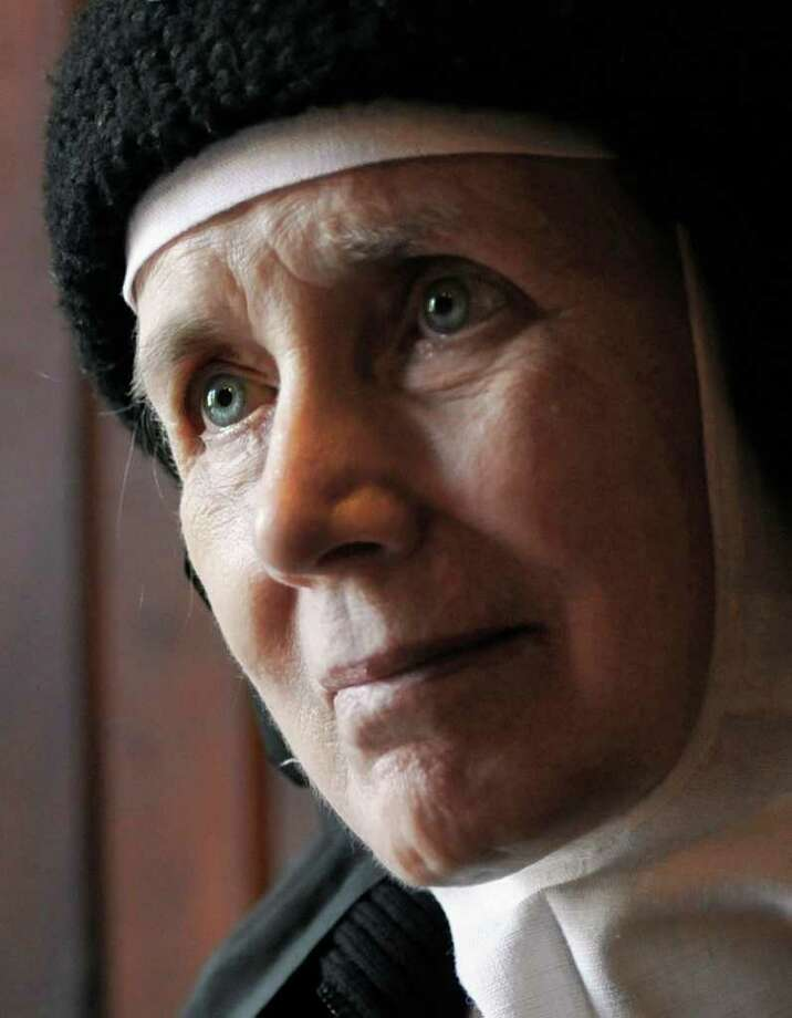 Mother Dolores Hart is interviewed inside the Abbey of Regina Laudis monastery in Bethlehem, Conn., Thursday, Dec. 22, 2011.  (AP Photo/Jessica Hill) Photo: Jessica Hill / AP2011
