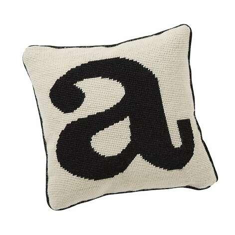 Alphabet Needlepoint Pillow Pb Teen 1967818 Sfgate