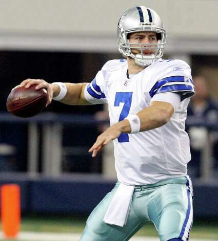 Dallas Cowboys' Stephen McGee looks to pass against the Philadelphia Eagles during first half action Saturday Dec. 24, 2011 at Cowboys Stadium in Arlington, TX. PHOTO BY EDWARD A. ORNELAS/eaornelas@express-news.net) Photo: EDWARD A. ORNELAS, Express-News / © SAN ANTONIO EXPRESS-NEWS (NFS)