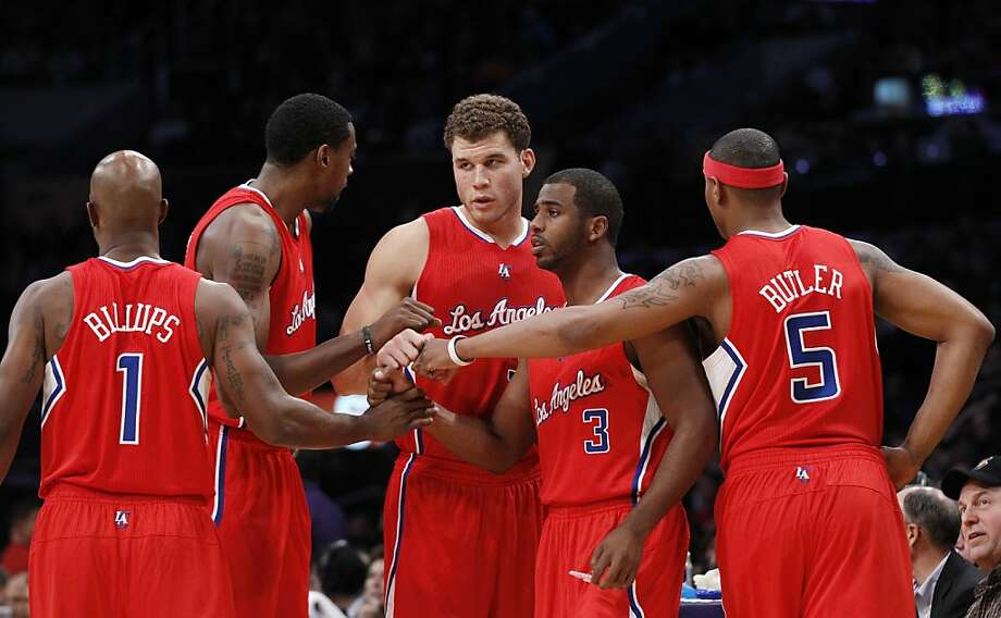 Chauncey Billups, DeAndre Jordan, Blake Griffin, Chris Paul, Caron Butler Photo: Danny Moloshok, Associated Press