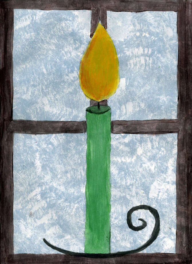 This is the grand-prize winner in our annual holiday card contest, created by Faith Cunningham, 14, a ninth-grader at Clayton A. Bouton High School in Voorheesville.