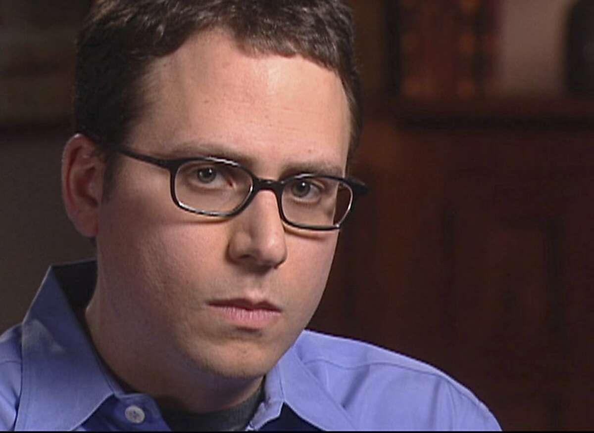 Stephen Glass, former writer for The New Republic, is seen in this video framegrab released by CBS'
