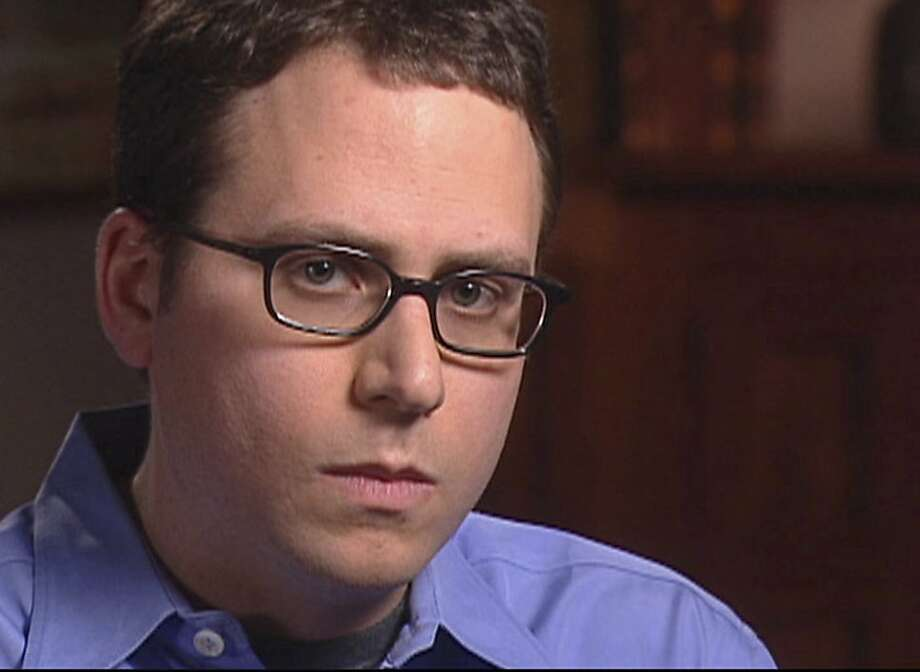 "Stephen Glass, former writer for The New Republic, is seen in this video framegrab released by CBS' ""60 Minutes,"" Wednesday, May 7, 2003, in New York. Next week Simon & Schuster will publish Glass' ""The Fabulist,""an autobiographical - but invented - account of his rise and fall at The New Republic. The magazine fired Glass in 1998 after determining there were fabrications in 27 of the 41 articles he had written. (AP Photo/CBS News) Photo: CBS News, Associated Press"