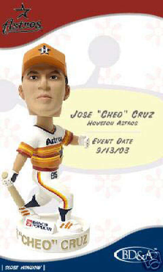 "This Jose Cruz bobblehead wears the Astros iconic ?rainbow? jersey, which the team used from 1975 to 1979. Baseball geeks refer to this period as the ?Rainbow Era."" / handout"