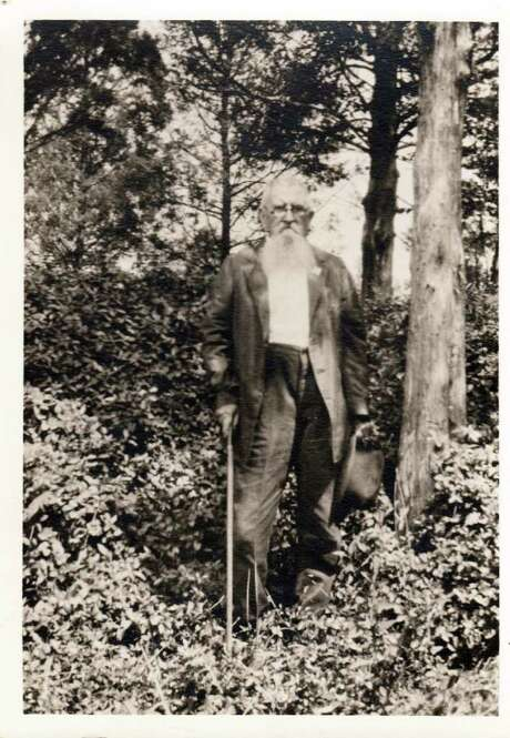 This photo taken in 1928 in Petersburg, Va. provided by the Library of Virginia shows Joseph Benjamin Sims, where he served as a sharpshooter with the 6th Virginia Infantry, Company K., at the battle of the Crater. He is shown at the spot where he had his hat shot off his head during the battle. Virginia is among a number of states attempting to collect Civil War documents that are in the possession of families, tucked away in trunks and attics. Photo: AP