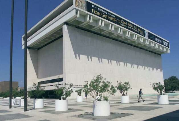 FILE - This Sept. 7 2001 file photo shows the Lyndon Baines Johnson Library and Museum in Austin, Texas. A $10-million redesign of the LBJ Library and Museum announced in December 2011 is intended to give visitors a better understanding of the landmark reforms Johnson propelled through Congress and is being done even as many of his initiatives are under attack by conservatives. Photo: AP