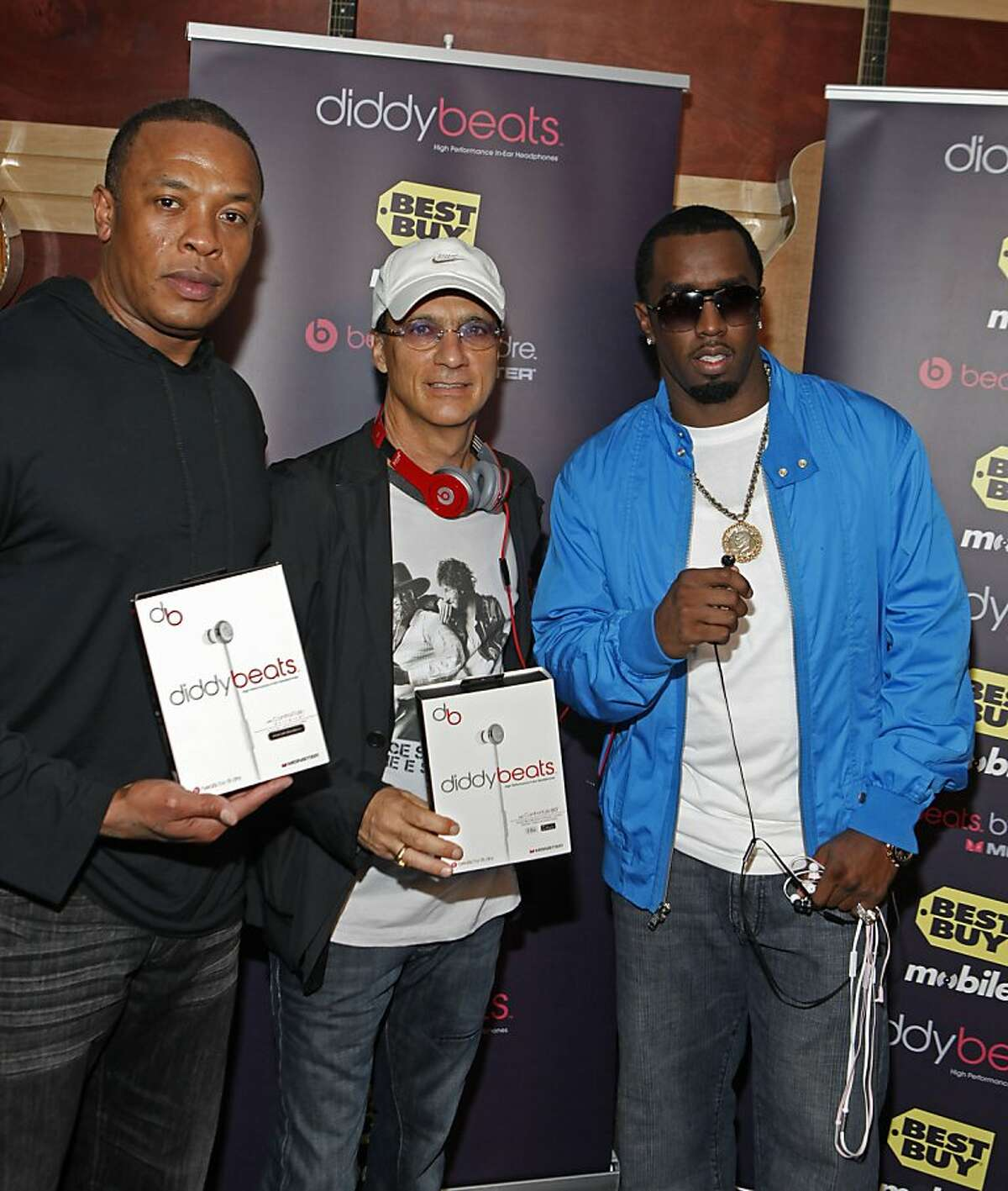 """Sean """"Diddy"""" Combs, Dr. Dre, Jimmy Iovine"""