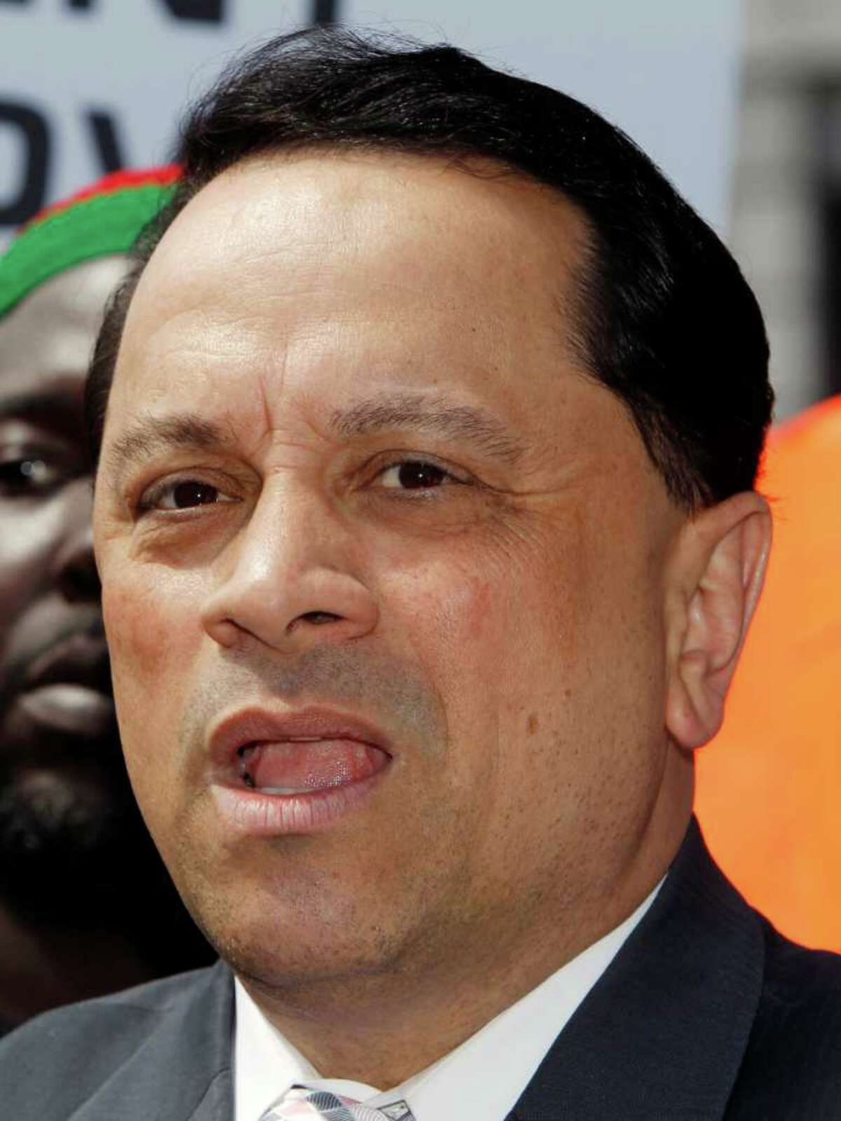 Fformer state senator Pedro Espada Jr. speaks at a rally in Albany, N.Y. in this 2010 file photo. (AP Photo archive/Mike Groll)