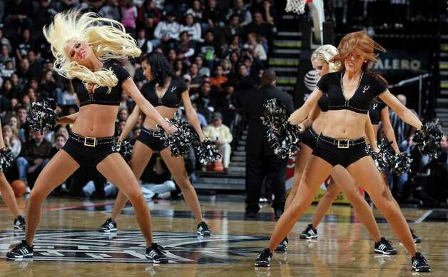 Members of the San Antonio Spurs Silver Dancers perform during the game with the Memphis Grizzlies Monday Dec. 26, 2011 at the AT&T Center. The Spurs won 95-82. Photo: EDWARD A. ORNELAS, Express-News / SAN ANTONIO EXPRESS-NEWS (NFS)