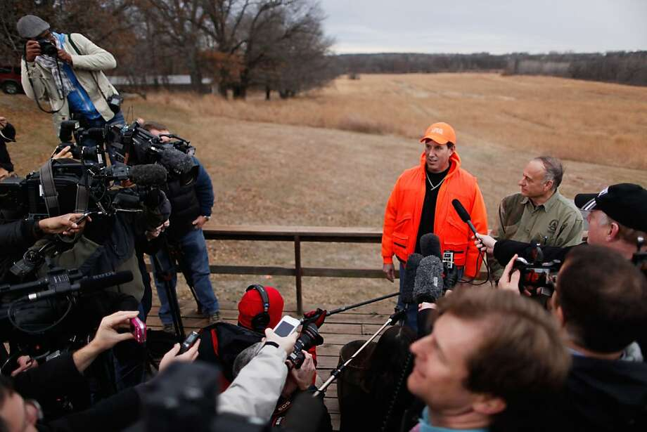 Rick Santorum Speaks To Media After A Pheasant Hunt Photo: Chip Somodevilla, Getty