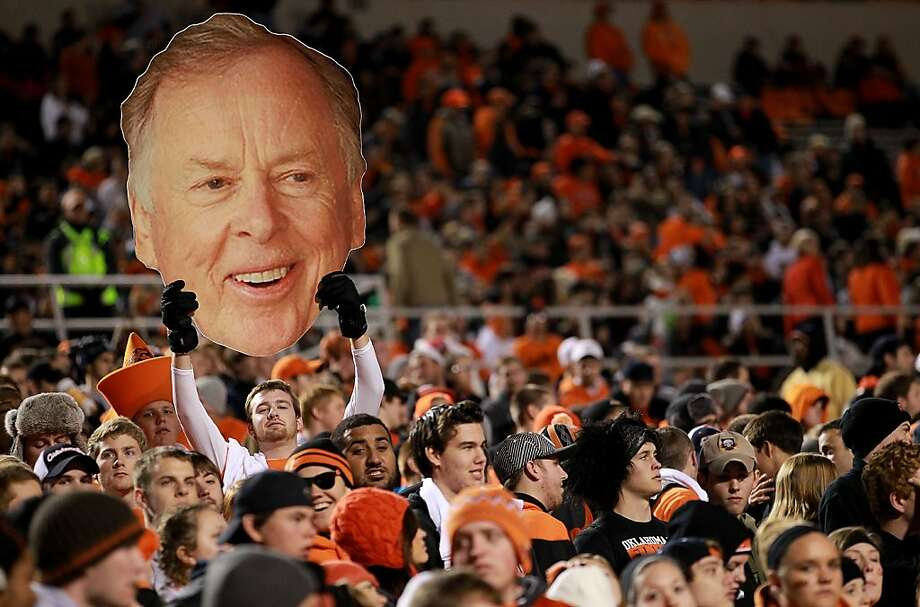T. Boone Pickens, the oil man and hedge-fund boss, is often the public face of Oklahoma State athletics. Photo: Ronald Martinez, Getty