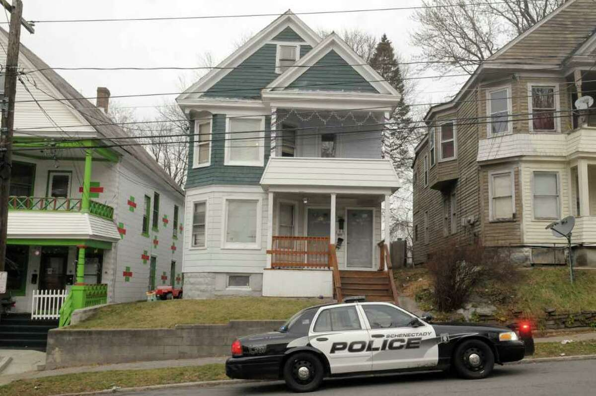 A view of the apartments at 201 and 203 Elm St. on Tuesday, Dec. 27, 2011 in Schenectady, NY. (Paul Buckowski / Times Union)