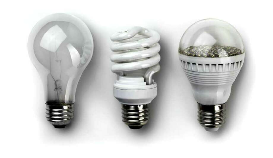 January 2012 marks the beginning of the end for incandescent light bulbs, which will be gone completely (except for some new more energy-efficient varieties) from store shelves by 2014. They will be replaced by compact fluorescent (CFL) and light emitting diode (LED) bulbs with similar light output. Photo: Getty Images/iStockphoto