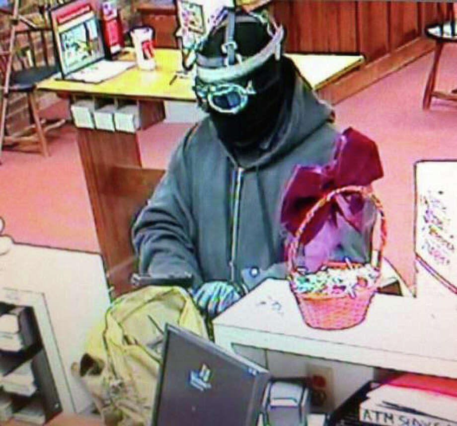 Surveillance picture of robbery at Bank of America in Kent, Dec. 27, 2011. Photo: Contributed