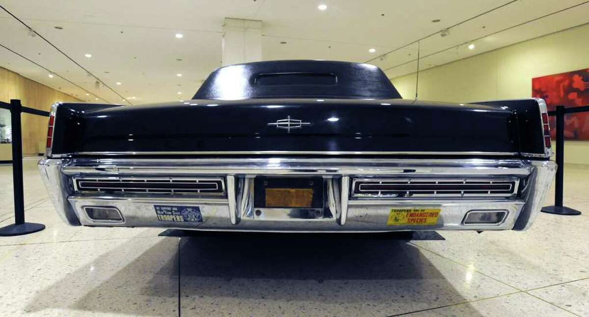 A limousine used by Gov. Nelson Rockefeller is on display on the lower Empire State Plaza concourse on Tuesday, Dec. 27, 2011 in Albany, N.Y. (Lori Van Buren / Times Union)