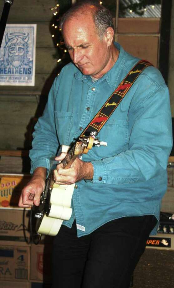 "Guitarist Rick ""Casper"" Rawls plays his signature Fender Telecaster B-Bender during a show at Gruene Hall in December. Photo: JIM BEAL JR"