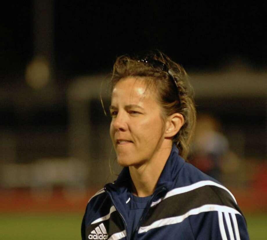 19c1b8480 Seven Lakes varsity soccer coach Amy Davis Photo: Eddy Matchette / freelance