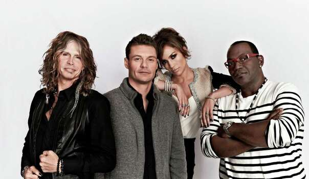AMERICAN IDOL: L-R: Steven Tyler, Ryan Seacrest, Jennifer Lopez and Randy Jackson. CR: Michael Becker / FOX.