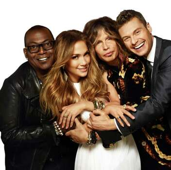 AMERICAN IDOL: L-R: Randy Jackson, Jennifer Lopez, Steven Tyler and Ryan Seacrest. CR: Warwick Saint / FOX.