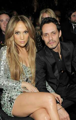 LOS ANGELES, CA - FEBRUARY 13: Singers Jennifer Lopez and Marc Anthony attend The 53rd Annual GRAMMY Awards held at Staples Center on February 13, 2011 in Los Angeles, California.  (Photo by Larry Busacca/Getty Images For The Recording Academy) Photo: Larry Busacca, Staff / 2011 Getty Images